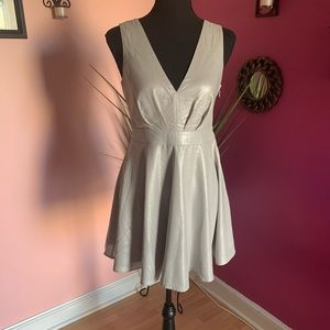 Papaya short skater dress